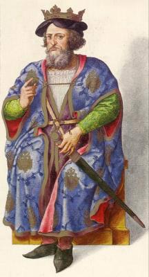 Миниатюра из Испанской королевской библиотеки. Король Аурелио (768 г.)