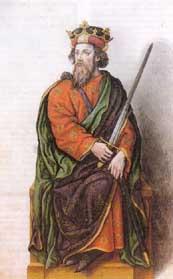 Миниатюра из Испанской королевской библиотеки. Король Бермудо II.