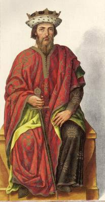 Миниатюра из Испанской королевской библиотеки. Король Фавила (737 г.)