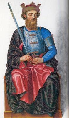 Король Энрике II со своим сыном инфантом Хуаном.
