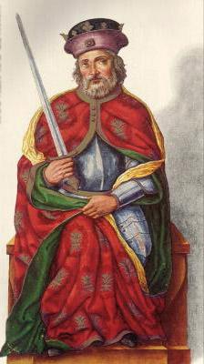 Миниатюра из Испанской королевской библиотеки. Король Ордoно I (850 г.)