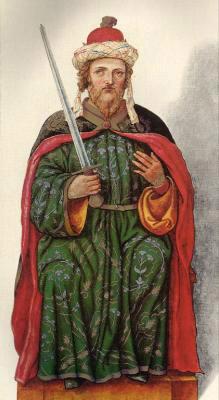 Миниатюра из Испанской королевской библиотеки. Король Ордоньо II (910 г.).