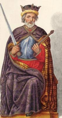Миниатюра из Испанской королевской библиотеки. Король Сило (774 г.)